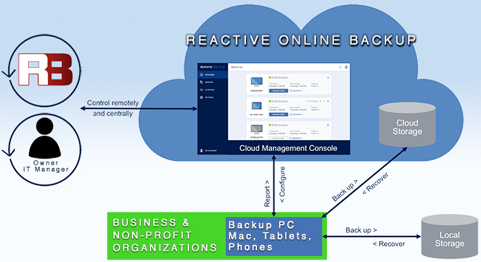 Reactive Online Backup service how it works - Moose Jaw
